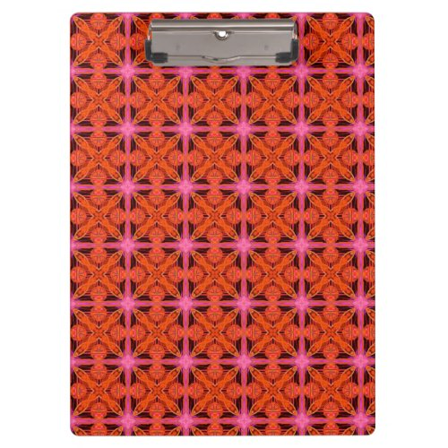 Bittersweet Pink Glowing Abstract Moroccan Lattice Clipboard