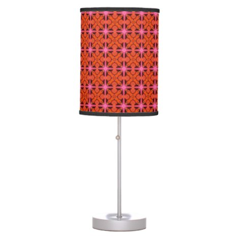 Bittersweet Pink Glowing Abstract Moroccan Lattice Desk Lamp