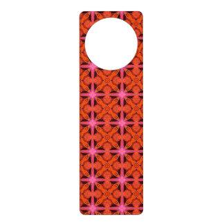 Bittersweet Pink Glowing Abstract Moroccan Lattice Door Hanger