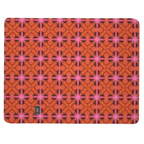 Bittersweet Pink Glowing Abstract Moroccan Lattice Journal