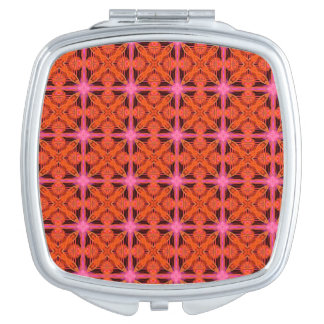 Bittersweet Pink Glowing Abstract Moroccan Lattice Mirror For Makeup