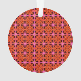 Bittersweet Pink Glowing Abstract Moroccan Lattice Ornament