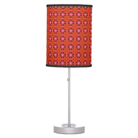 Bittersweet Pink Glowing Abstract Moroccan Lattice Table Lamp