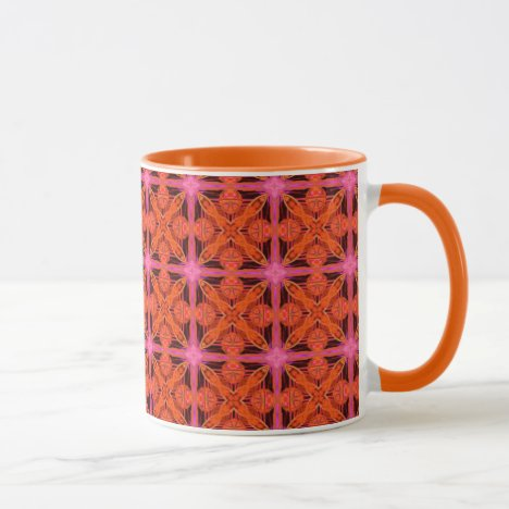 Bittersweet Pink Glowing Moroccan Lattice Mug