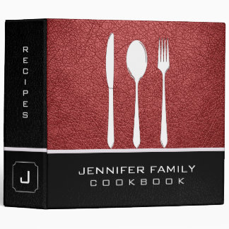 Bittersweet shimmer Leather Family Cooking 3 Ring Binder