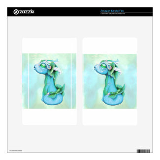 Bitty Water Dragon Decal For Kindle Fire