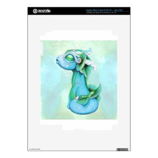 Bitty Water Dragon iPad 3 Decals
