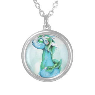 Bitty Water Dragon Silver Plated Necklace