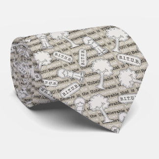 BITUB Pattern (Believe in the Unbelievable) Tie