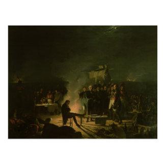 Bivouac of Napoleon I on Battlefield Battle Postcard