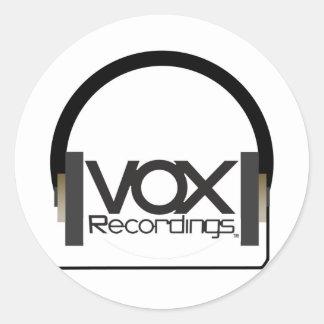 bix vox tee2 classic round sticker