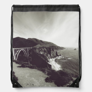 Bixby Bridge, Big Sur, California USA Drawstring Bag