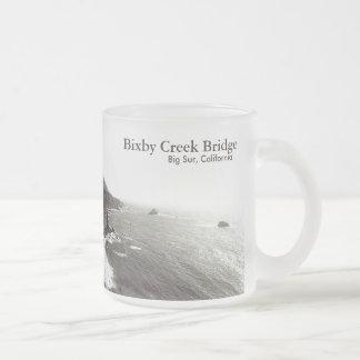 Bixby Bridge, Big Sur, California USA Frosted Glass Coffee Mug