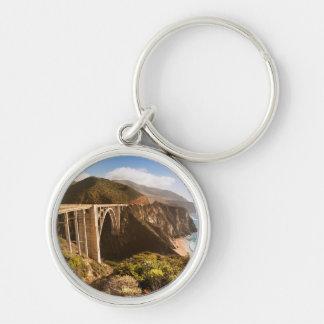 Bixby Bridge, Big Sur, California, USA Keychain