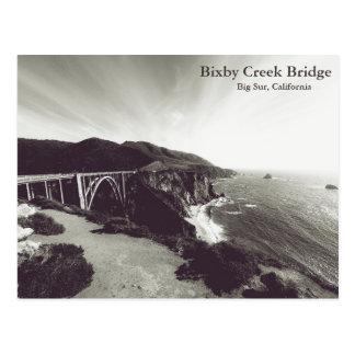Bixby Bridge, Big Sur, California USA Postcard