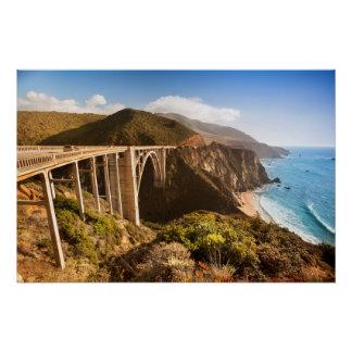 Bixby Bridge, Big Sur, California, USA Poster