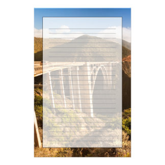 Bixby Bridge, Big Sur, California, USA Stationery
