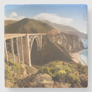 Bixby Bridge, Big Sur, California, USA Stone Coaster