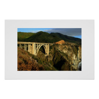 Bixby Bridge California Highway 1 Poster
