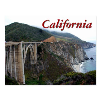 Bixby Bridge, California Postcard