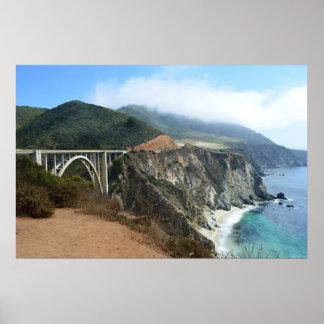 Bixby Bridge on California's Big Sur coast Poster