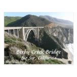 Bixby Creek Bridge, Big Sur, California Post Card