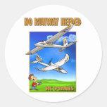 Bixler No Runway Needed Round Stickers