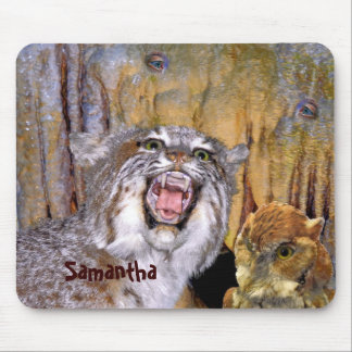 Bizarre 2 Cave-Eyes and Lion Kid's Fantasy Mouse Pad