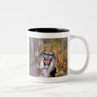 Bizarre 2 Cave-Eyes and Lion Kid's Fantasy Two-Tone Coffee Mug