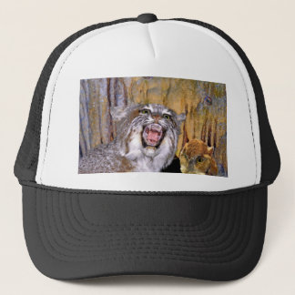Bizarre 2 Cave-Eyes and Lion s Fantasy Trucker Hat