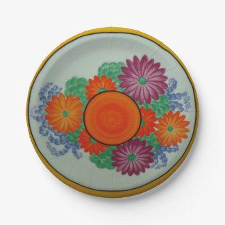 """Bizarre 7"""" Paper Plates a 1920's English Design"""
