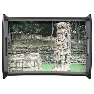 Bizarre Ancient Mayan Ruins Copan Honduras AD426 Serving Tray