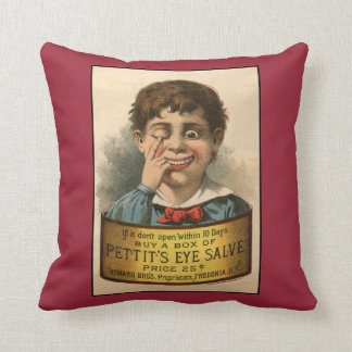 Bizarre and Funny Vintage Ad Pillow