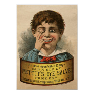 Bizarre and Funny Vintage Ad Poster
