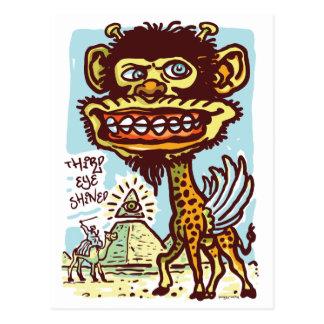 Bizarre Giraffe in Egypt Postcard