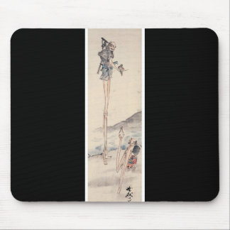 Bizarre long limbed Ancient Japanese Painting Mouse Pad