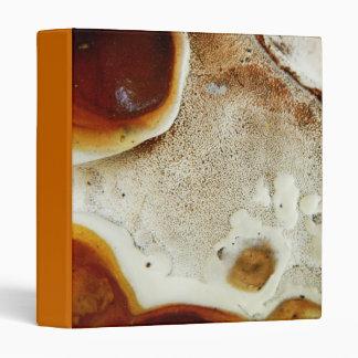 Bizarre nature - bright orange abstract texture 3 ring binder