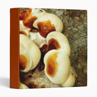 Bizarre nature - bright orange white tree fungi vinyl binder