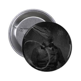 Bizarre Vintage Image Caiman Pinback Button