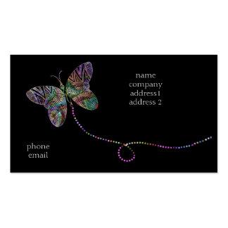 bizcard de la mariposa tarjetas de visita