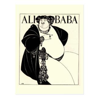 Bizcocho borracho de Ali de Aubrey Beardsley Postales