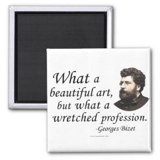 Bizet en la profesión imán cuadrado