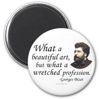 Bizet en la profesión imán redondo 5 cm
