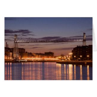 Bizkaia bridge tarjeta de felicitación
