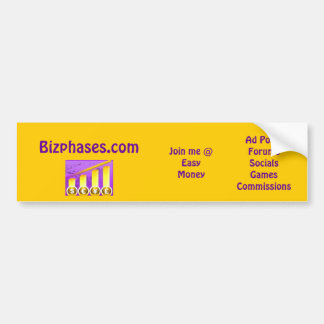 bizphases2, Bizphases.com, Ad PostsForumsSocial... Car Bumper Sticker