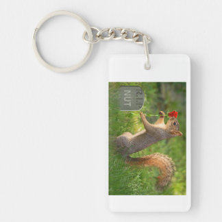 BizzareWorld Mourning Squirrel 2 Sided Key Chain