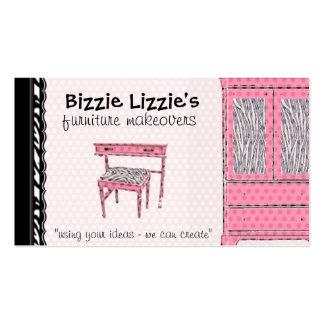 Bizzie Lizzie Zebra and Dots Business Card