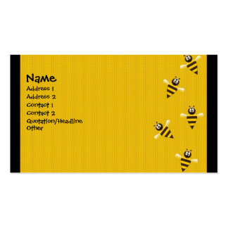 Bizzy Bees Double-Sided Standard Business Cards (Pack Of 100)
