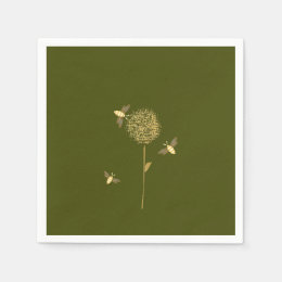 Bizzy Bees on a Dandelion Paper Napkins
