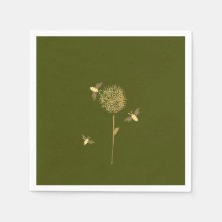 Bizzy Bees on a Dandelion Paper Napkins